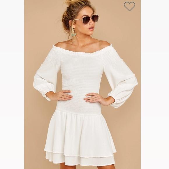 New! Shift white dress